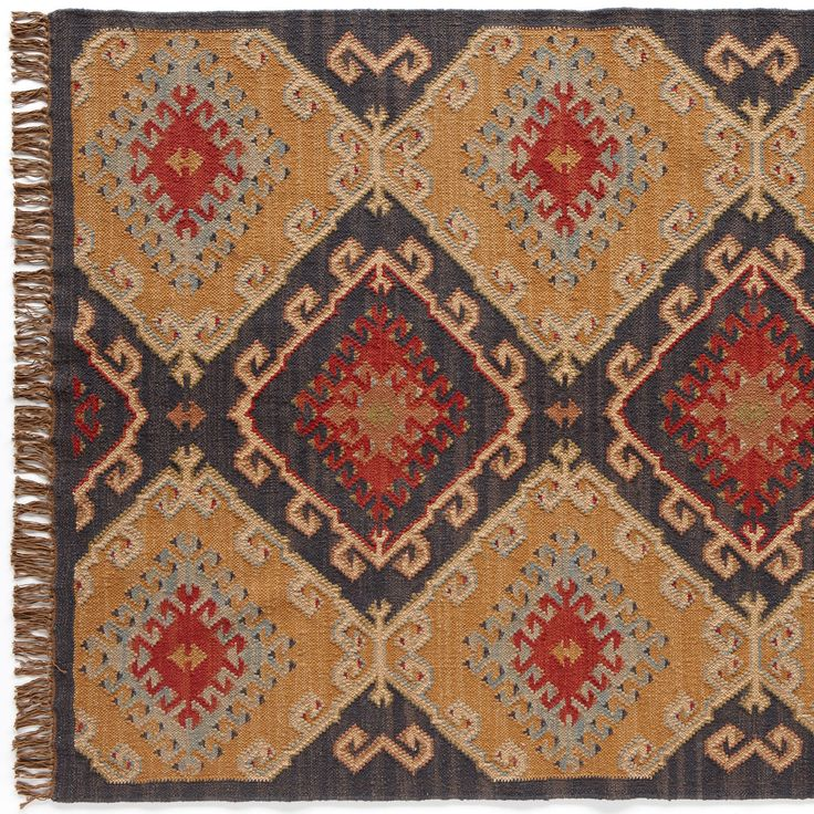 Celestial Diamond Dhurrie Rug It S The Colors Gold Magenta Orange And