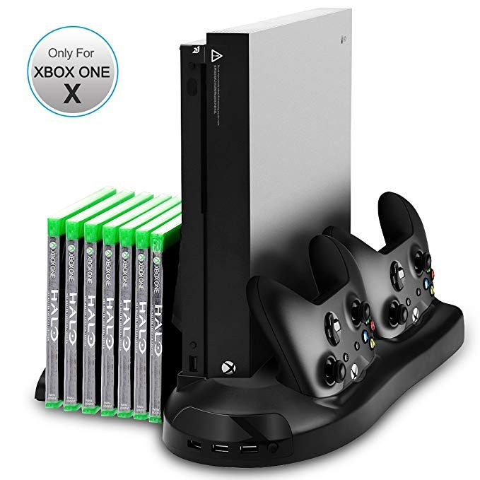 Xbox One X Stand Sotical Veamor Xbox One X Vertical Stand Cooling
