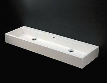 LUCE Sink #5104 - contemporary - bathroom sinks - LACAVA = the trough sink I have been looking for!