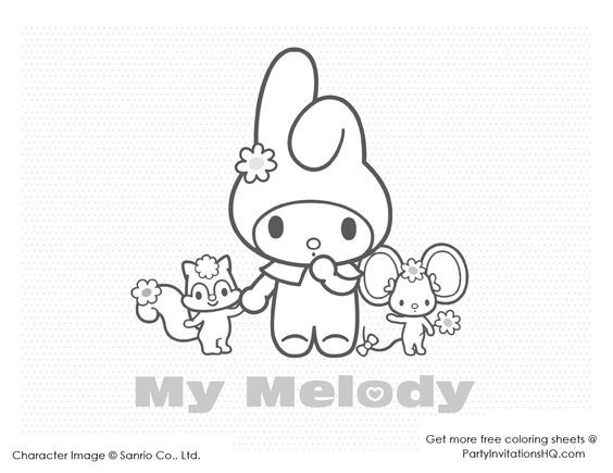 11 Best Coloriage My Melody Images By Marjolaine Grange On Pinterest