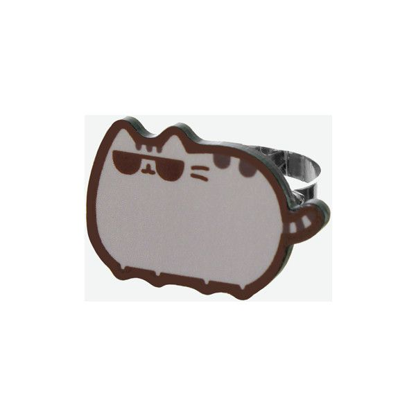 Cool Pusheen ring (12 BRL) ❤ liked on Polyvore featuring jewelry and rings