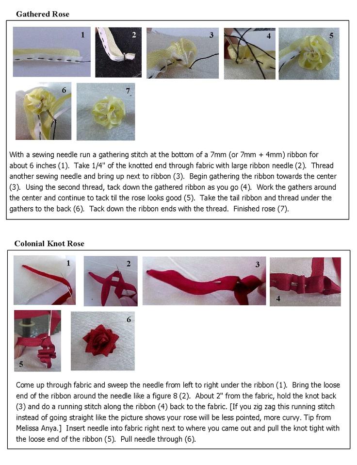 Silk ribbon tutorial