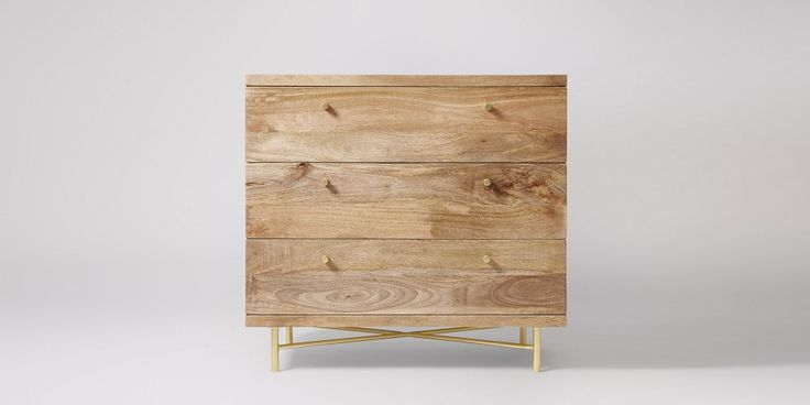 Potential bed side cabinets for master bedroom as correct dimensions. Halle Chest Of Drawers | Swoon Editions