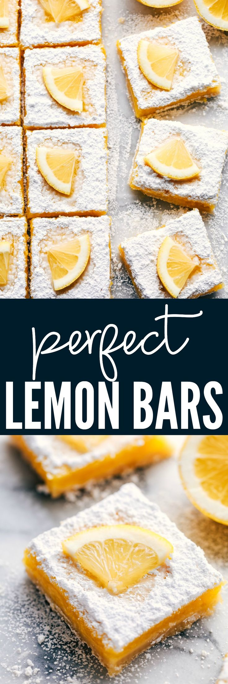 Perfect Lemon Bars at https://therecipecritic.com Perfectly baked and deliciously tangy lemon bars!