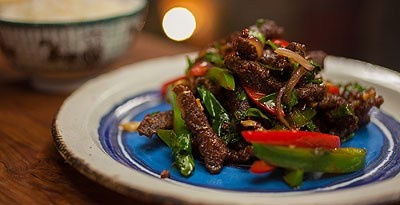 Dry Fried Szechuan Shredded Beef