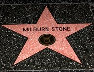Milburn Stone - Hollywood Star Walk TV: located on the north side of the 6800 block of Hollywood Boulevard- Los Angeles Times