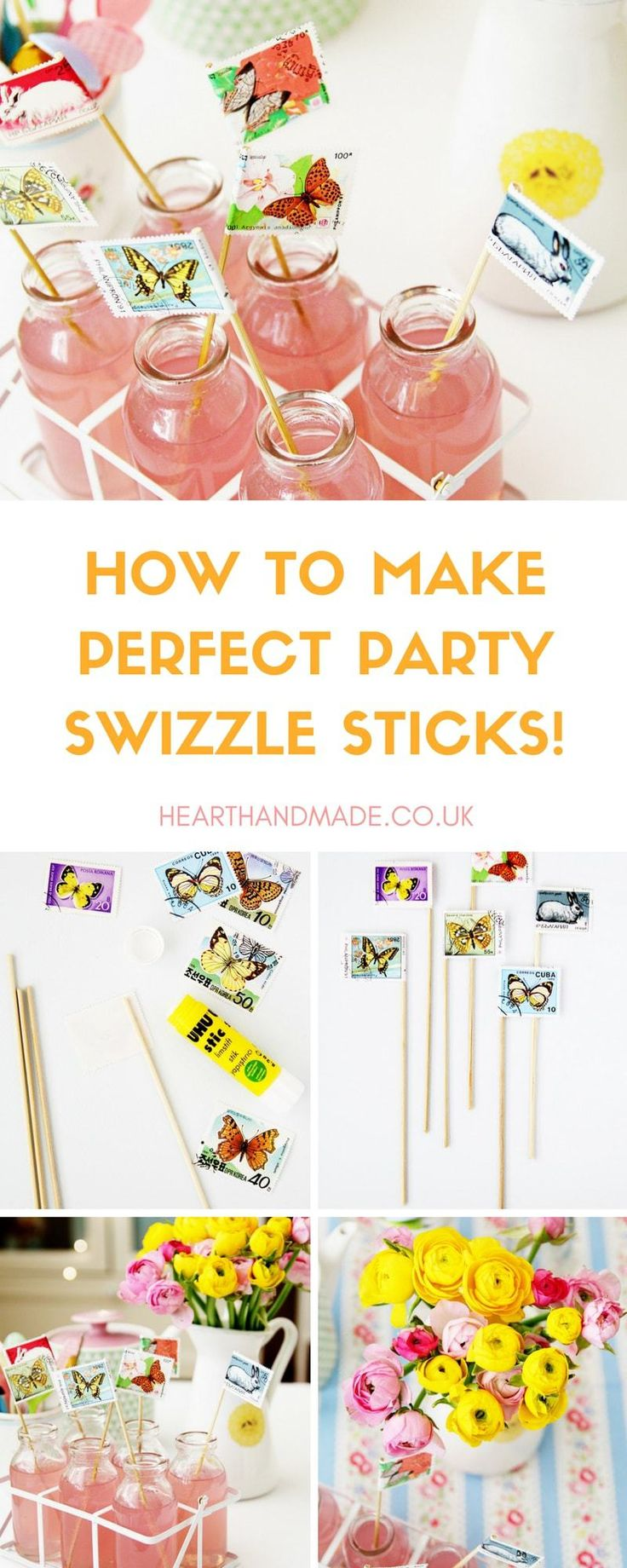 Want to know how to make super quick and easy custom DIY stamp swizzle sticks for your summer DIY party? Simple wooden DIY tutorial/craft that is perfect for cocktails or soft drinks at a summer party, wedding, picnic or any holidays.