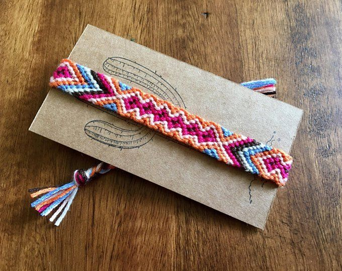 cotton braided anklet festival jewelry southwestern tribal bracelet beach anklet woven macrame friendship bracelet Boho tribal anklet