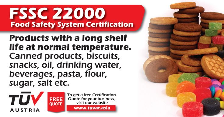 The FSSC 22000: Food Safety System Certification. For further queries how we can assist you: tuvat.asia/get-a-quote, or call Pakistan: +92 (42) 111-284-284 | Bangladesh +880 (2) 8836404 | Sri Lanka +94 (11) 2301056 #FSSC22000 #certification #ISO #safety #TUV #job #certification #Pakistan #Bangladesh #Srilanka