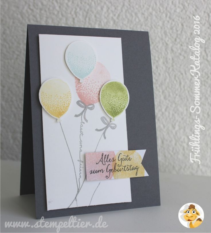 Stampin up saisonkatalog sommer frühling 2016 vorschau sneak peek preview partyballons luftballon party
