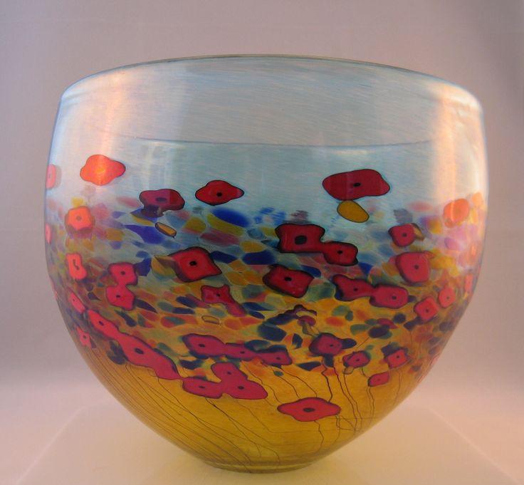 Red California Poppy Large Bowl
