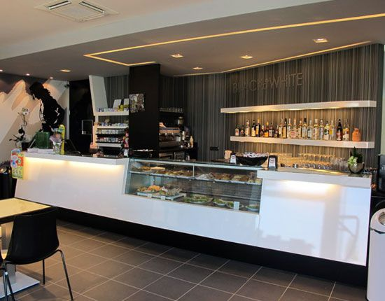 modern cafe   Back to Post :Modern Cafe Design of Black or White with Contemporary ...