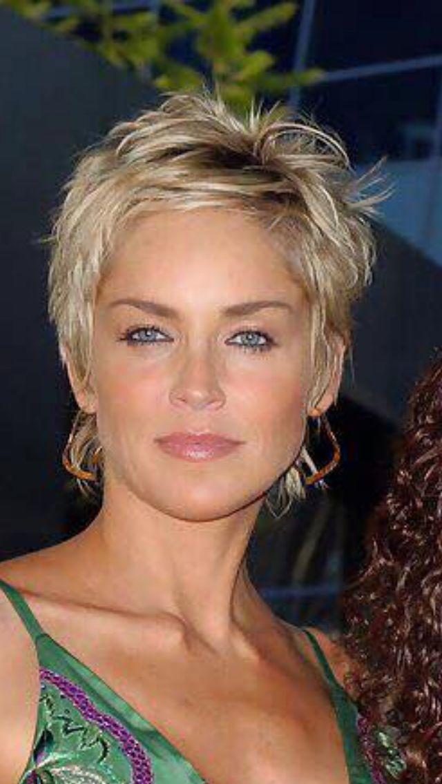 Ich Bin Ihr Haar Bestes Bild Club Sharon Stone Short Hair Sharon Stone Hairstyles Thick Hair Styles