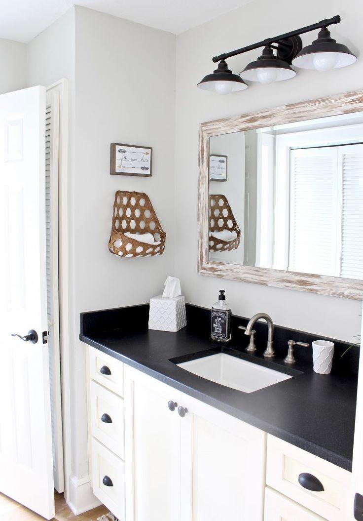 Jack And Jill Bathroom Makeover Our Hammock House Jack And Jill Bathroom Bathroom Makeover Modern Farmhouse Bathroom