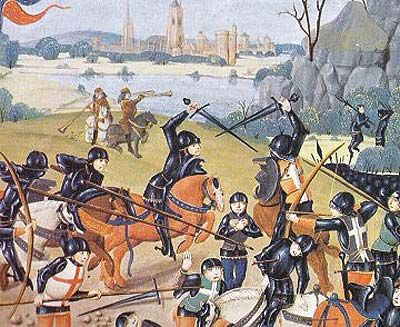 Battle of Agincourt:  French Overwhelmed
