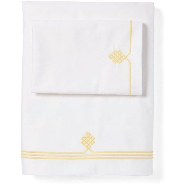 Serena & Lily Lemon Gobi Embroidered Sheet Set California King ($268) ❤ liked on Polyvore featuring home, bed & bath, bedding, bed sheets, western king bedding, cal king bed sheet sets, california king bed linens, pattern bedding and white embroidered bedding