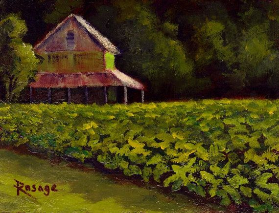 Original Painting By Bernie Rosage Jr Nc Landscape Of
