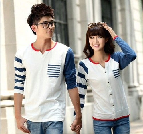 korean fashion couple tshirt asian fashion couples