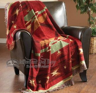 Colorful, soft woven southwestern throws are fabulous for rustic home decor and a cozy cover.