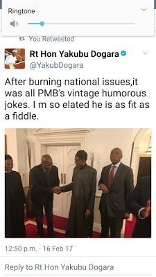 Trends and Politics  : We discussed national issues with President Buhari...