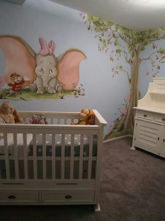 I want this baby room! Amazing Disney baby rooms