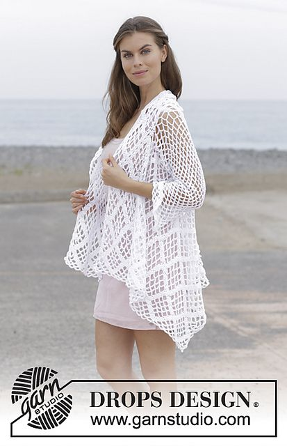 187 7 White Shore Pattern By Drops Design Crochet Clothing