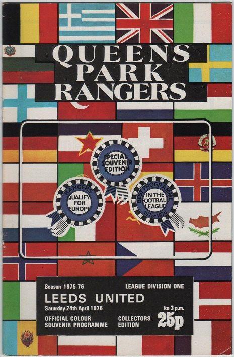 Vintage Football Programme - Queens Park Rangers v Leeds United, 1975/76 season, by DakotabooVintage, £3.99