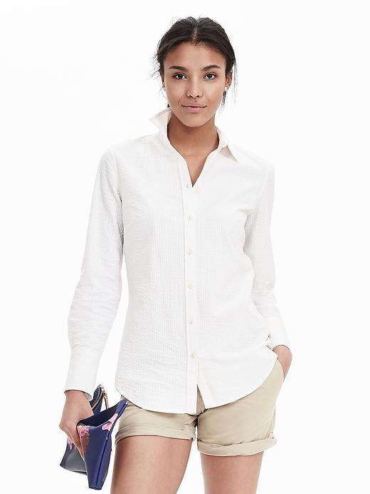 c5208e4e575a Riley-Fit Seersucker Shirt