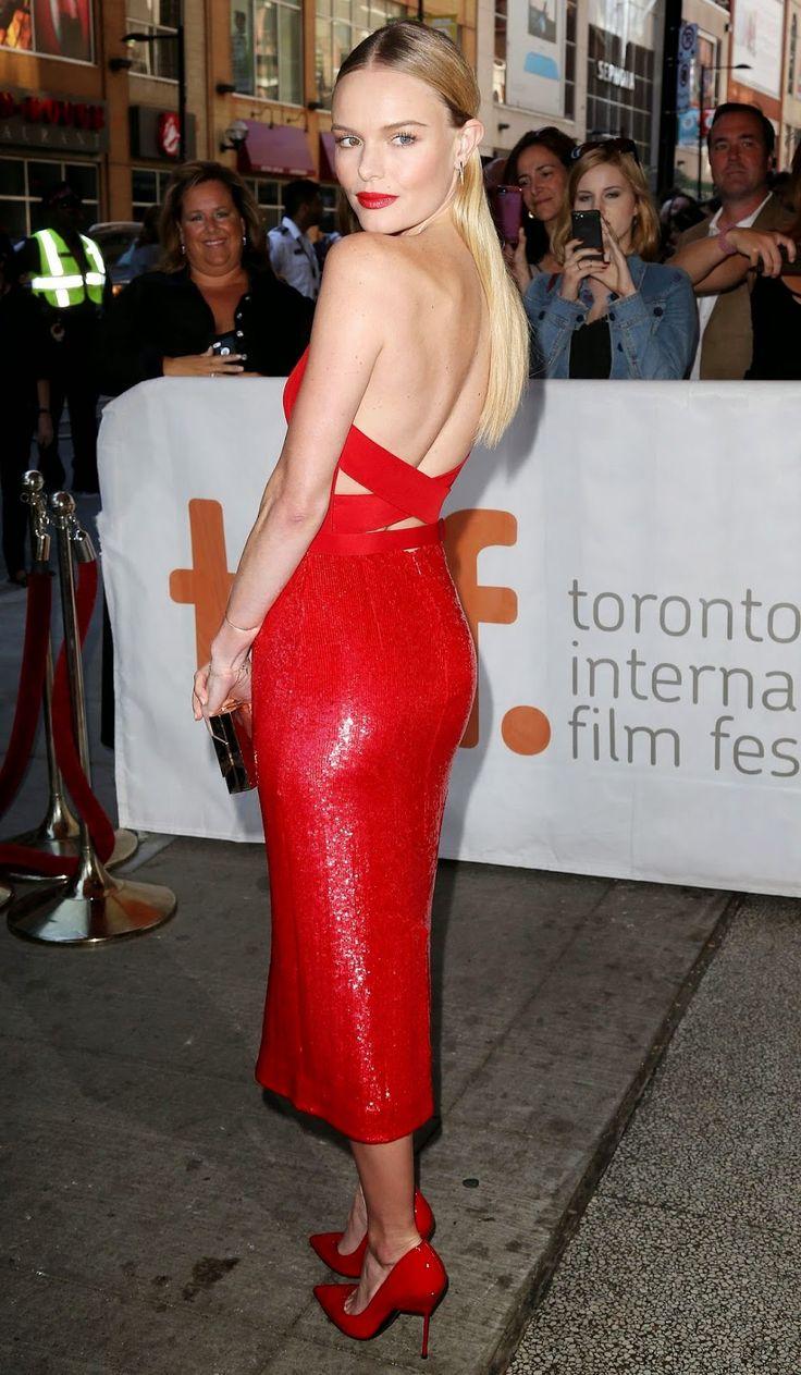 Kate Bosworth in va-va-voom red #TIFF #Celebrity