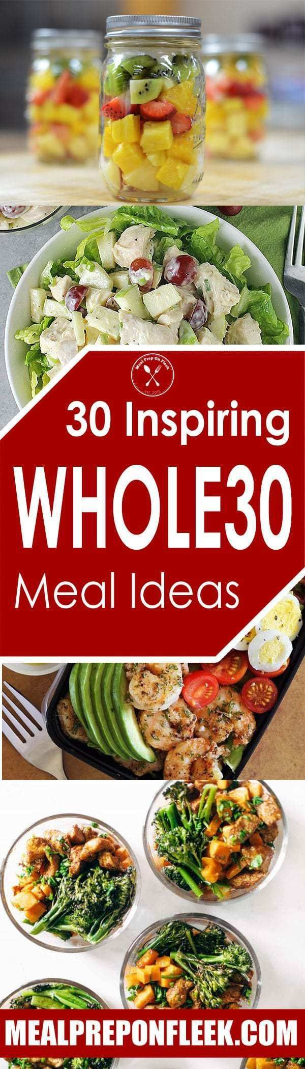 30 Whole30 Recipe Ideas - Meal prep is such an essential part of the Whole30 program. Here are 30 Whole30 Meal Prep compliant recipes ideas for you to make this week. #whole30 #whole30recipes #mealprep #mealprepping