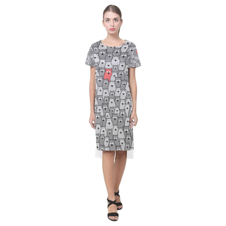 Stand Out From the Crowd Short Sleeves Casual Dress(Model D14)