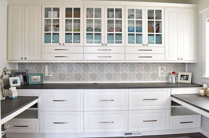 Built In Home Office Design Using Ikea Sektion Cabinets Kitchen Built Ins Ikea Home Office Ikea Built In