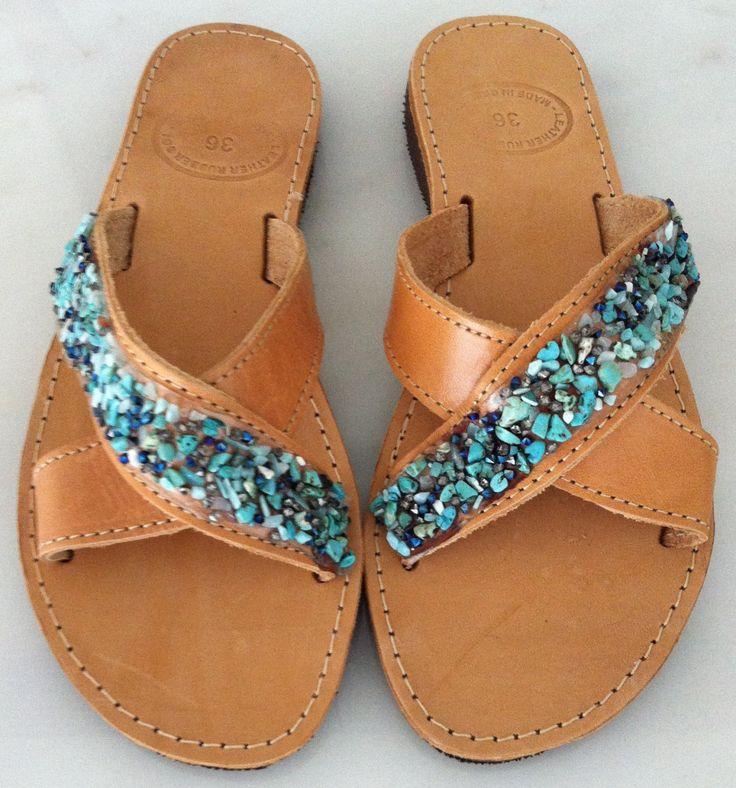 Handmade Genuine Leather Ladies Sandals by ScreationsGR on Etsy https://www.etsy.com/listing/236812410/handmade-genuine-leather-ladies-sandals