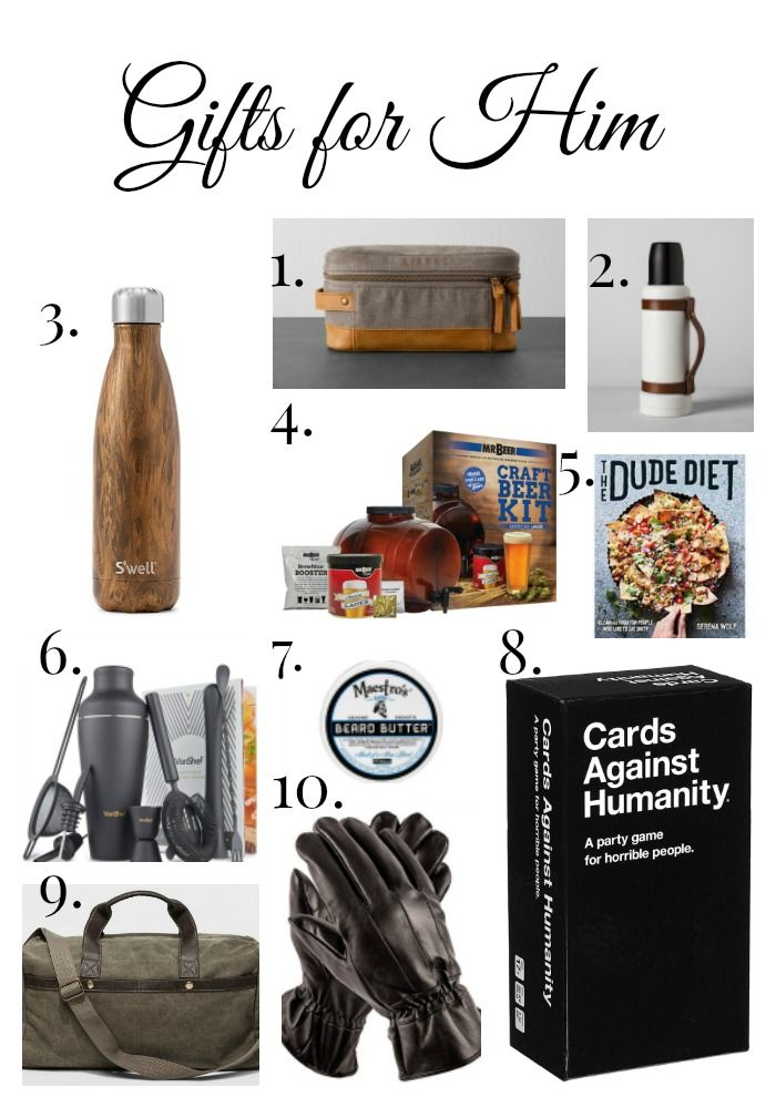 Gift Guide for Him! (Under $50)