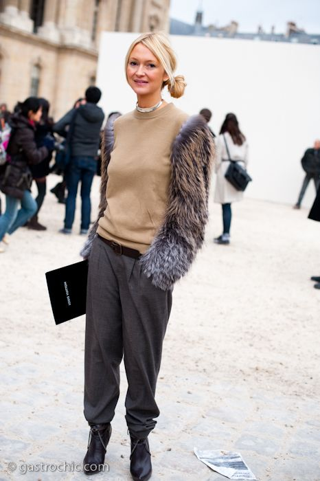 Fur Sleeves? Zanna Roberts Rassi at Louis Vuitton