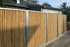 Bambus Zaunelement Zaun Sichtschutz mit Edelstahlabdeckung 180x150 cm
