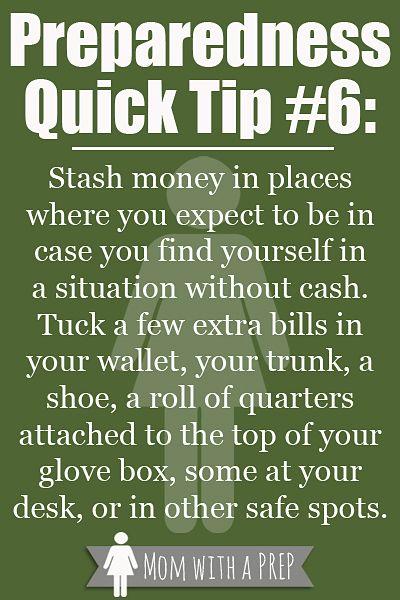 Preparedness Quick Tip #6: Stash Some Cash - Mom with a PREP