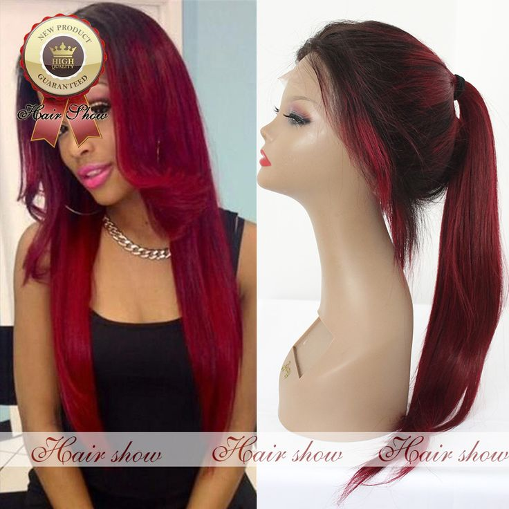 Find More Human Wigs Information about 2016 Hot Sale Full Lace Wig $1b/Red Ombre Lace Front Wig Unprcessed 150% Brazilian Virgin Human Hair Wigs For Fashion Women,High Quality wig case,China wig pink Suppliers, Cheap wig from Guangzhou Hairshow Wigs Co,Ltd. on Aliexpress.com
