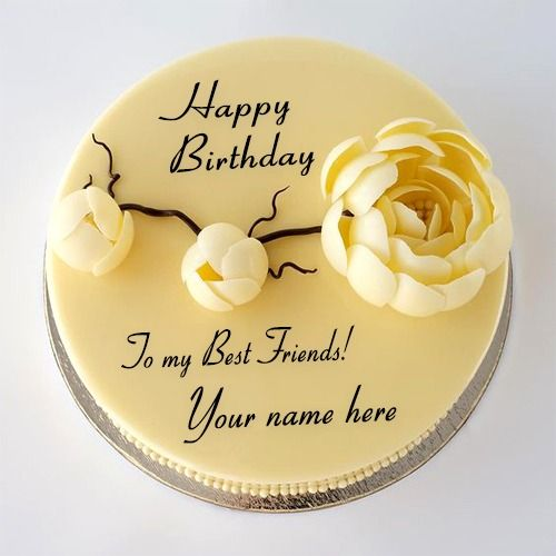 Happy Birthday Cake Images For Best Friend With Name Write Name On