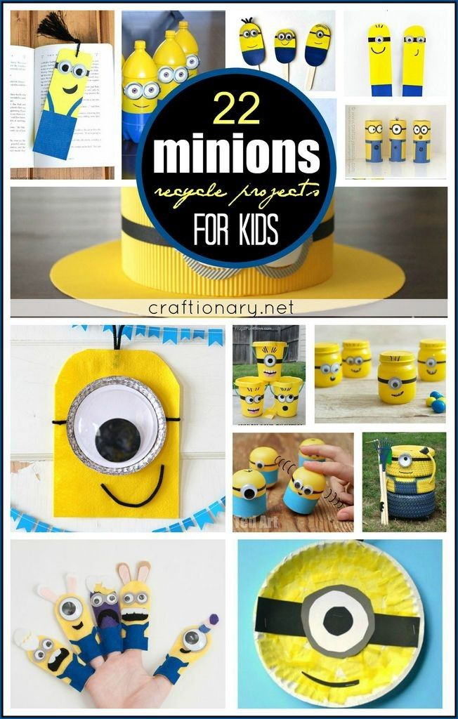 22 minion recycle projects | 22 DIY Minions recycle projects for creative kids - Craftionary