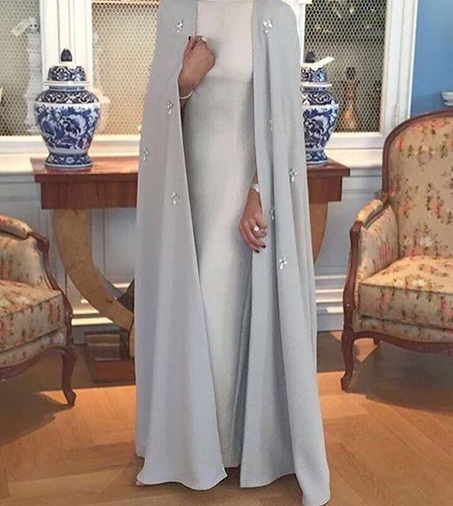 "3,242 Likes, 15 Comments - ⠀⠀⠀⠀Faith badr  & Haifa Lz™|🇹🇳 (@hijabmodern.fh) on Instagram: ""Exculsive Dress cape from @maxi_couture 💎"""