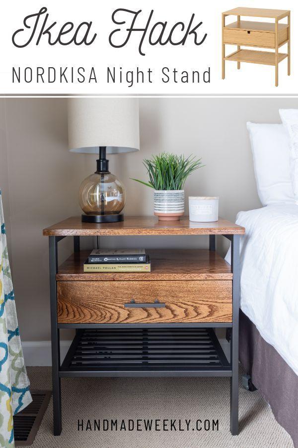 Ikea Nordkisa Nightstand Hack Handmade Weekly In 2020 Furniture Hacks Ikea Diy Ikea