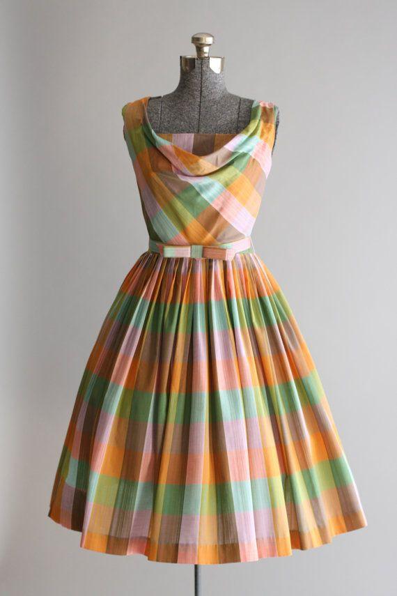 Vintage 1950s Dress / 50s Cotton Dress / door TuesdayRoseVintage