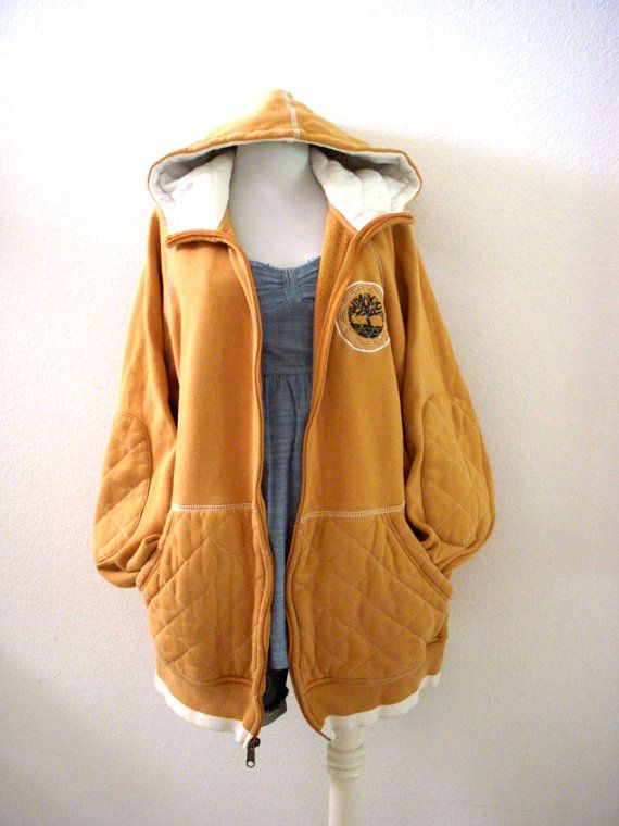 90s Chamois Colored Timberland Hoodie Tan by aVintageVagrant