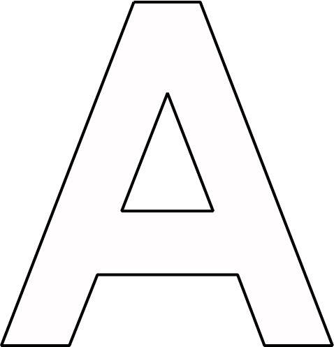 Kleurplaat Letter A