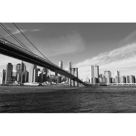 Obraz na płótnie - Brooklyn Bridge - dostępny w rozmiarach 150x100, 120x80, 90x60, 60x40 i 40x26 cm, w kolorze, sepii i odcieniach szarości #fedkolor #obraz #na #płótnie #ze #zdjęcia #wydruki #drukowanie #fotografie #obrazzezdjęcia #zdjecianapłótnie #Brooklyn #most #bridge #architektura #miasto #miejskie