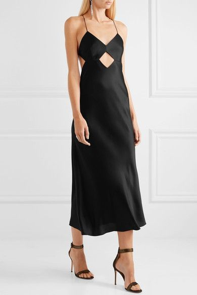 Michelle Mason | Cutout backless silk midi dress | NET-A-PORTER.COM