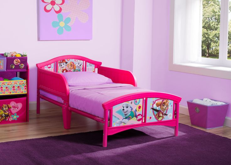 PAW Patrol, Skye & Everest Plastic Toddler Bed