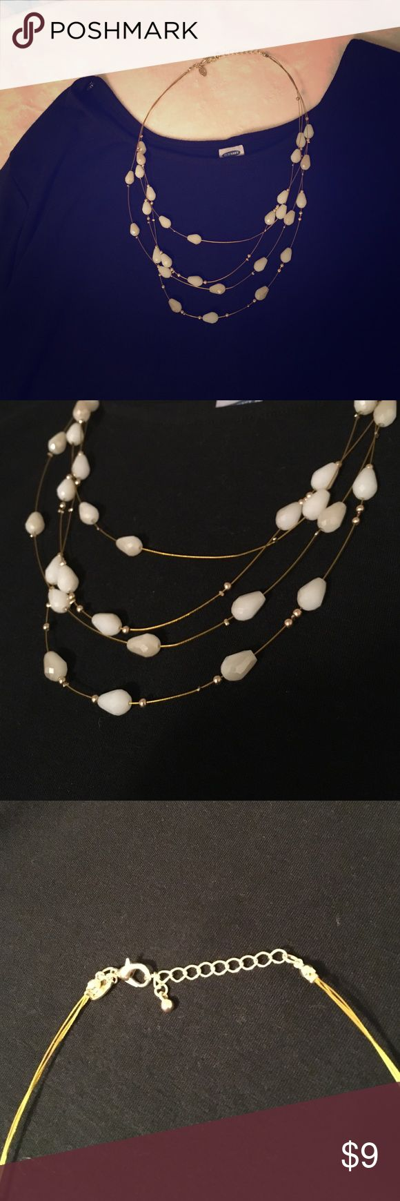 Necklace Gorgeous Gold and Cream necklace Jewelry Necklaces