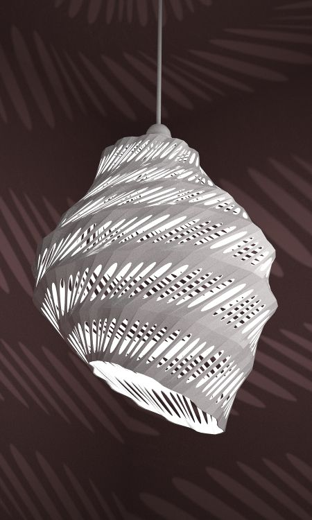 3d print lampshade designed by studioluminaire.com.Join the 3D Printing Conversation: http://www.fuelyourproductdesign.com/
